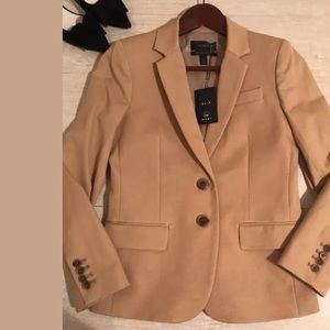 NWOT J.crew women's brown blazer Jacket Size 2P